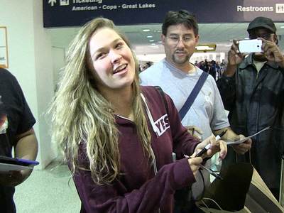 Ronda Rousey -- She's Back from Marine Corp Ball ... and She's Back!