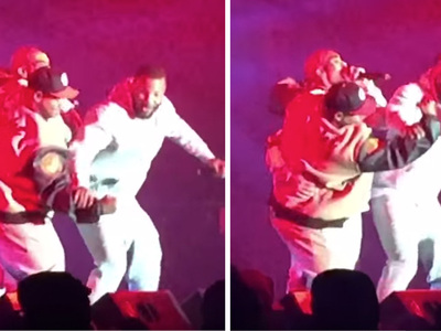 The Game -- Puts Stitches On Blast ... In Front of Huge Crowd