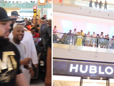 Floyd Mayweather -- Crazy Mall Footage ... From $1 Million Shopping Spree