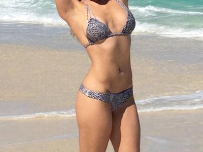 Guess Whose Beachin' Bod -- See The Leopard Print Lady