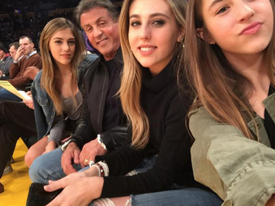 Sylvester Stallone -- Taken to Selfie School by Knockout Daughters (PHOTOS)