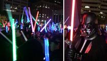 'Star Wars' -- Lightsaber Battle Rages in L.A.