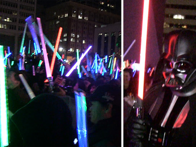 'Star Wars' -- Lightsaber Battle Rages in L.A.