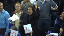 Paul McCartney -- Rockin' Out at the NY Rangers Game (Video)