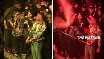 The Weeknd -- High-Priced Champagne Shower for Crowd (VIDEO)