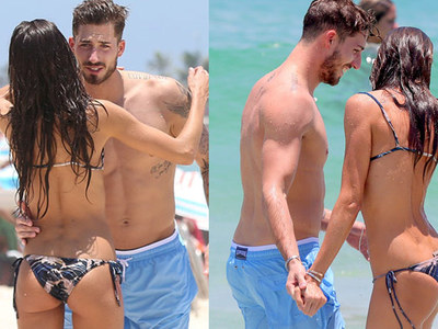 Victoria's Secret Model -- Butts Out ... With Soccer Stud BF