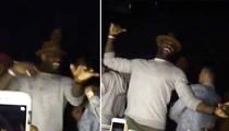 LeBron James -- Hittin' Them Folks ... With Cavs Teammates (VIDEO)
