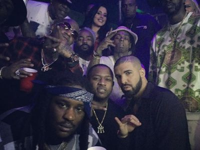 Birdman and Lil Wayne -- Together at Drake's New Year's Eve Party