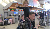 Elton John and David Furnish's Kid -- Cutest LAX Arrival ... Ever! (VIDEO)