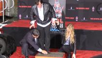 Quentin Tarantino -- Permanent 'F*** You' at Hollywood Landmark