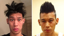Jeremy Lin's Hair Raising Looks -- See His Funny Follicles