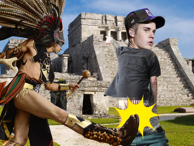 Justin Bieber -- Booted for Baring Ass on Pyramids (UPDATE)