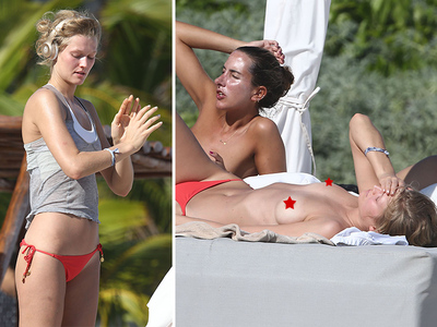 Leonardo DiCaprio -- Ex-GF Baring it All in Mexico (PHOTOS)