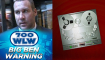 Ben Roethlisberger -- Fake Rape Warning Issued in Cincinnati (AUDIO)