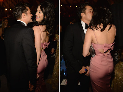 Katy Perry -- Orlando Bloom Is a Really Close Talker (PHOTOS)
