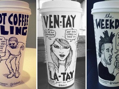 Pop Culture Coffee Cups -- See Instagram's Caffeinated Creations