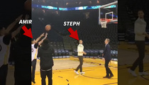 Steph Curry -- Coaches Boxing Star ... In Ugly Free Throw Shot (VIDEO)