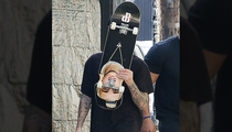Justin Bieber -- I CAN Feel My Face ... On My Skateboard (PHOTO)
