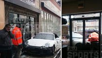 Lance Briggs -- NFL Star's Porsche Crashes Into Bartender School