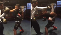 Usher -- Packs A Mean Punch ... Just Like Sugar Ray (VIDEO)