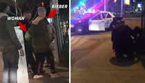 Justin Bieber -- Club Night Delayed ... Stops to Help Injured Old Lady (VIDEO)