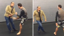 Chris Weidman -- OBLITERATES REEBOK EXEC ... With Brutal Kick (VIDEO)
