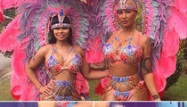 Amber Rose & Blac Chyna -- Shake Their Great BIG Tails ... and Feathers at Carnival (PHOTOS & VIDEO)