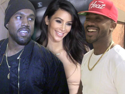 Kanye West -- I Gave Ray J a Heads Up ... I Rapped About Him Hitting Kim First