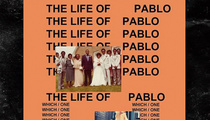 Kim Kardashian -- I Tapped the Bootay On Kanye's 'T.L.O.P.' Album Cover