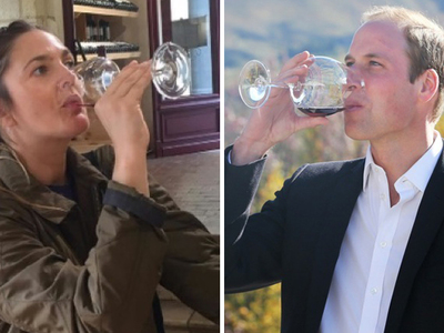 Sippin' Stars -- Bottoms Up For Drink Wine Day