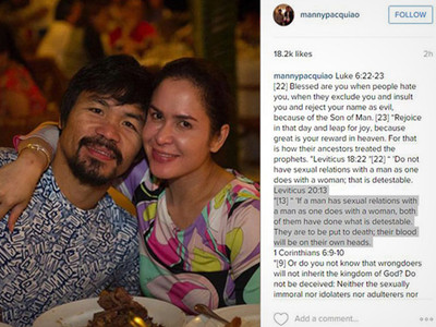 Manny Pacquiao -- Death to the Gays
