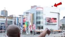 Harlem Globetrotters -- Insane Shots ... From Staples Center Roof!!!!