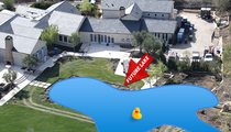 Kanye West & Kim Kardashian -- Digging a Backyard Lake! We'll Show You, Drake! (PHOTOS)