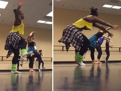Serena Williams -- Double Faults At Dancing ... Is Still A Badass