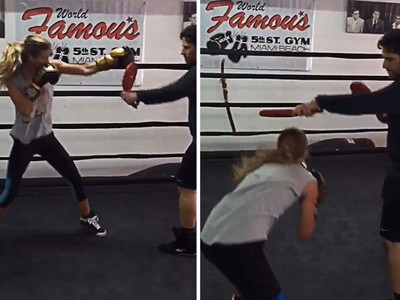 Nina Agdal -- Knockout ... Even In The Boxing Ring (VIDEO)