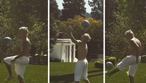 Justin Bieber -- Insane Soccer Juggling ... With Spin Move! (VIDEO)