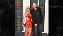 Gwen Stefani & Blake Shelton -- Dressin' Up and Down for Oscar Party (PHOTO)