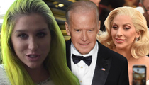 Kesha -- Shouts Out VP Joe Biden ... and Lady Gaga (VIDEO)