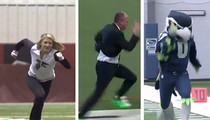 Rich Eisen -- Smoked By Smokin' Cheerleader ... In 40 Yard Dash (VIDEO)