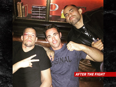 Nate Diaz -- Worse for Wear But Still, the King (PHOTO)