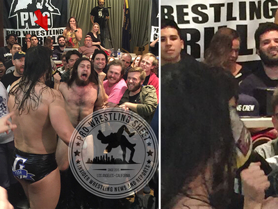 Ronda Rousey -- At Pro Wrestling Match ... During Holly Holm Loss