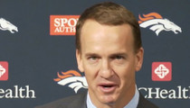 Peyton Manning -- Fights Tears at Retirement Speech ... Shouts Out Tom Brady (VIDEO)