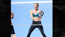 Maria Sharapova -- Squeezing In Beach Tennis ... Before Doping Suspension