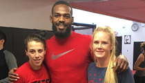Holly  Holm -- Training For UFC Revenge ... With Jon Jones