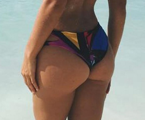 Guess whose bronzed glutes!