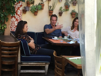 Harry Styles -- Power Lunch with Cindy & Rande (PHOTOS)