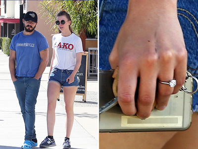 Shia LaBeouf -- Mia Goth Gets Rocked ... Shows Off Engagement Ring (PHOTOS)
