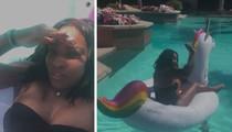 Serena Williams -- Bikini Unicorn Session (VIDEO + PHOTO)