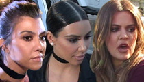Kim, Khloe and Kourtney Kardashian -- Sued Over Beauty Line