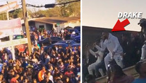 Drake -- Shuts Down Houston Street ... We Gotta Party!!! (VIDEO)